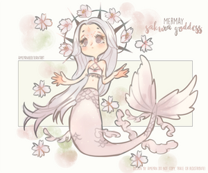 mermaid sakura goddess OTA [closed] by amepan