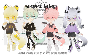 adopt: casual babes august batch [closed] by amepan