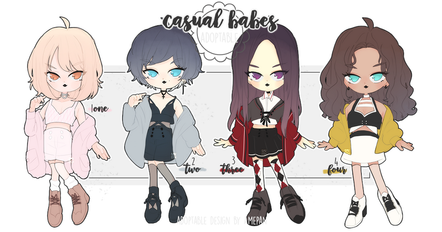 adopt: casual babes Nov Batch (1/4 OPEN) by amepan