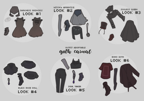 adopt: casual goth outfit (2/6 open) by amepan