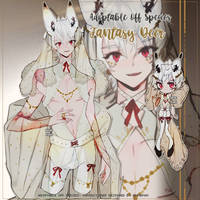 off species fantasy deer adopt auction (closed) by amepan