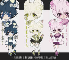 Flowers and  Bunnies Adoptable [CLOSED] by amepan
