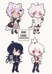 Mini Chibi Commission Batch 2 by amepan