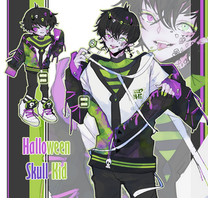 Halloween Skull Kid Adopt [CLOSED]
