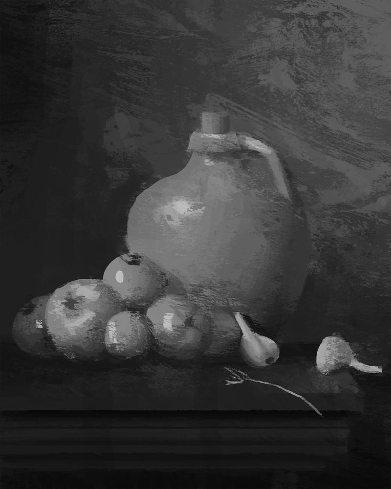 Old Still Life Painting by arsyiza