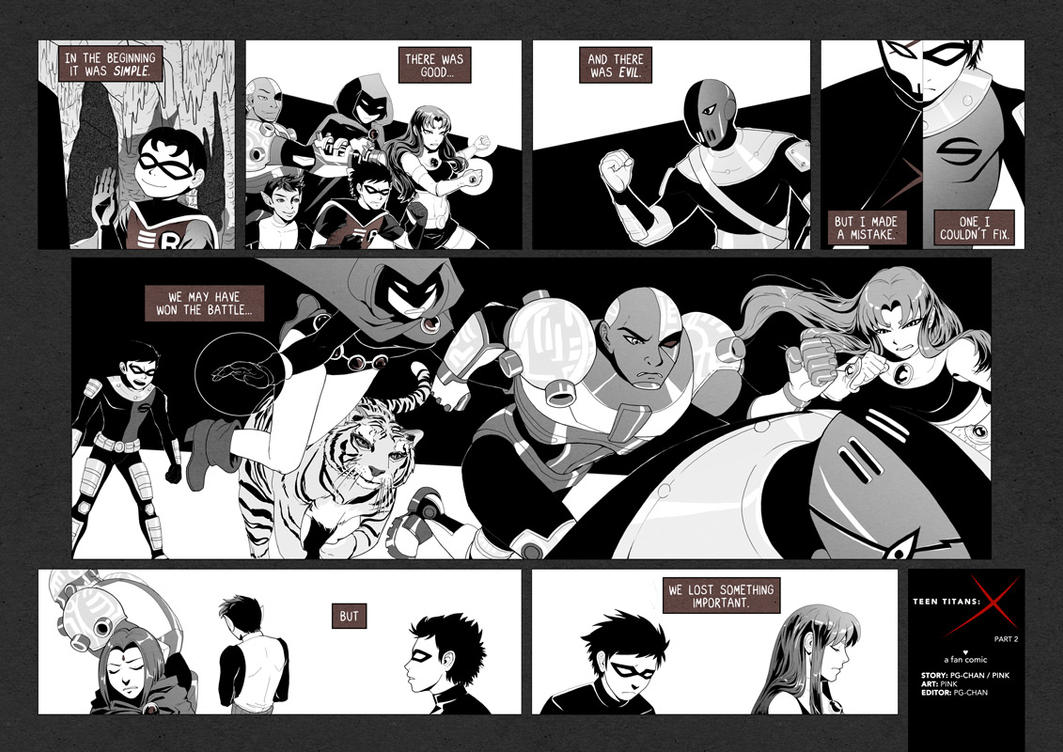 Teen Titans X - Page 26-27 By Pinku On Deviantart-7394
