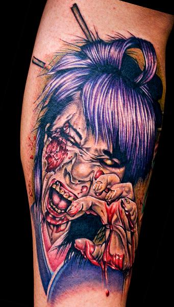 zombie geisha tattoo by tat2istcecil