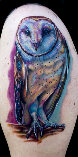 owl tattoo by tat2istcecil