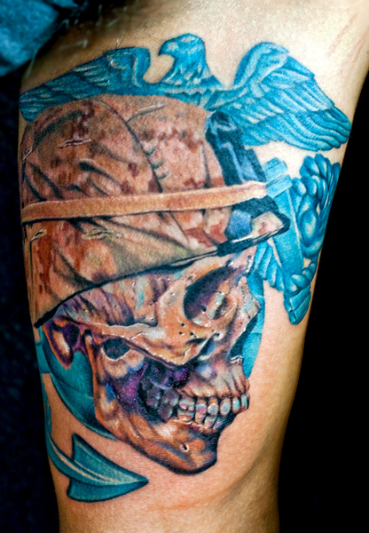 marine skull by tat2istcecil