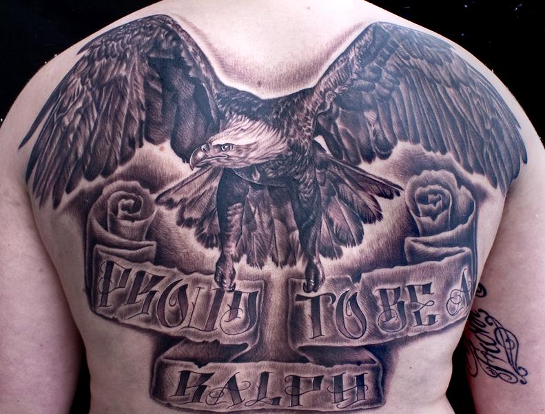 Eagle backpiece by tat2istcecil on deviantart for Eagle tattoo on back