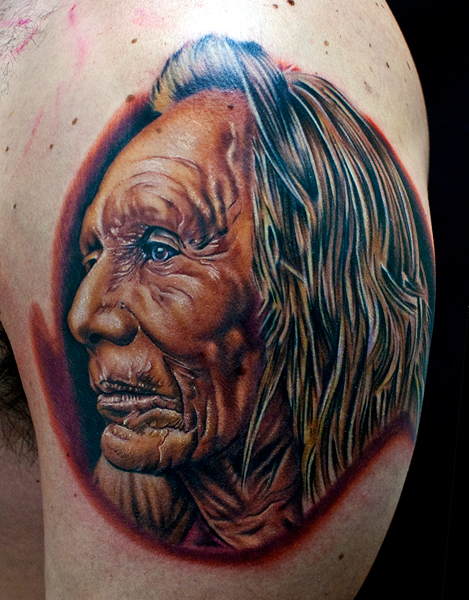 native american chief by tat2istcecil