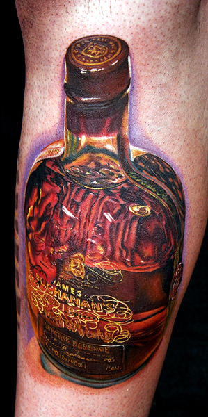 buchanan's bottle by tat2istcecil