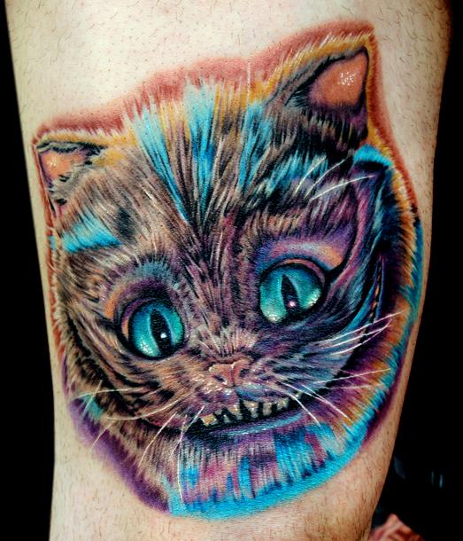 картинки тату чеширский кот