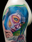 colorful day of the dead by tat2istcecil