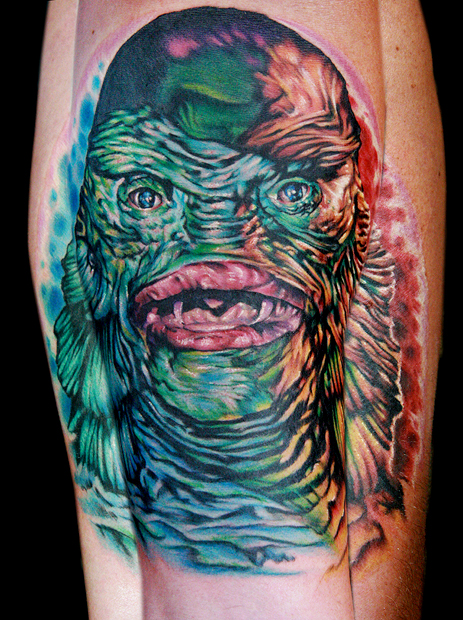 Los mejores tattoos a todo color Creature_from_black_lagoon_by_tat2istcecil-d2z3o3r