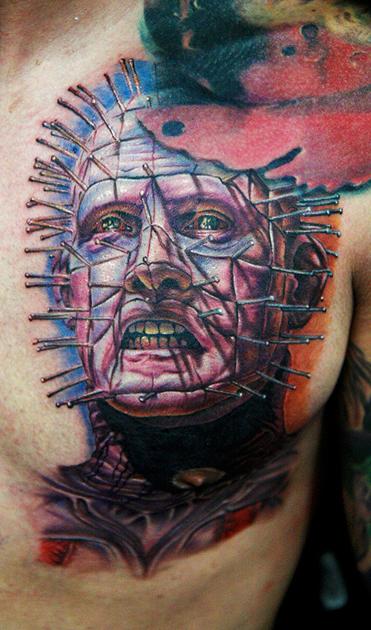 pinhead tattoo by tat2istcecil