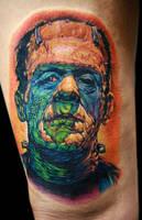 frankenstein tattoo by tat2istcecil
