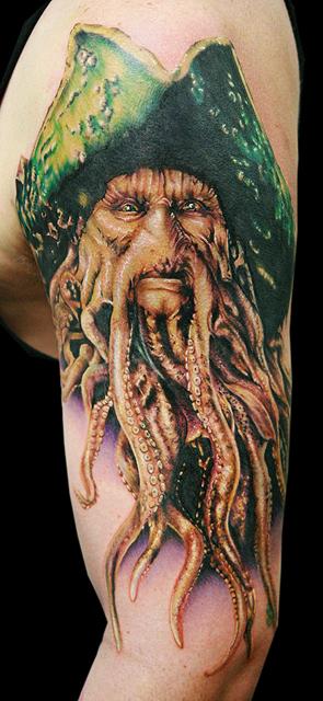 Los mejores tattoos a todo color Davey_jones_by_tat2istcecil-d37dq9x