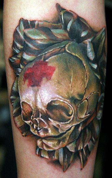 skull rose by tat2istcecil