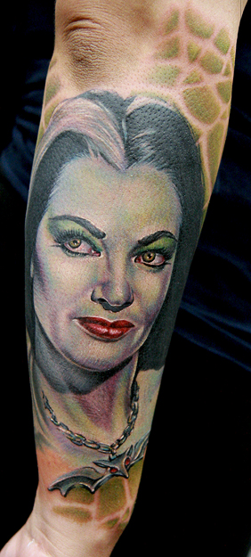lily munster - dragonfly tattoo
