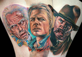 back to the future leg sleeve by tat2istcecil