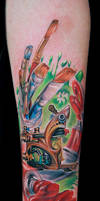 tattoo machine with paint