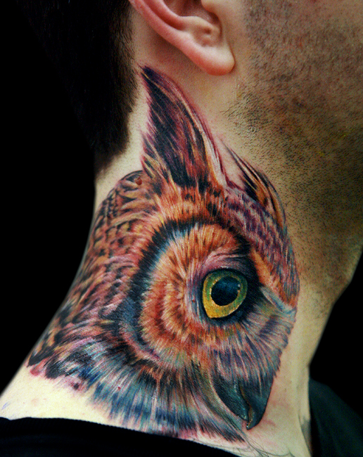 neck owl by tat2istcecil