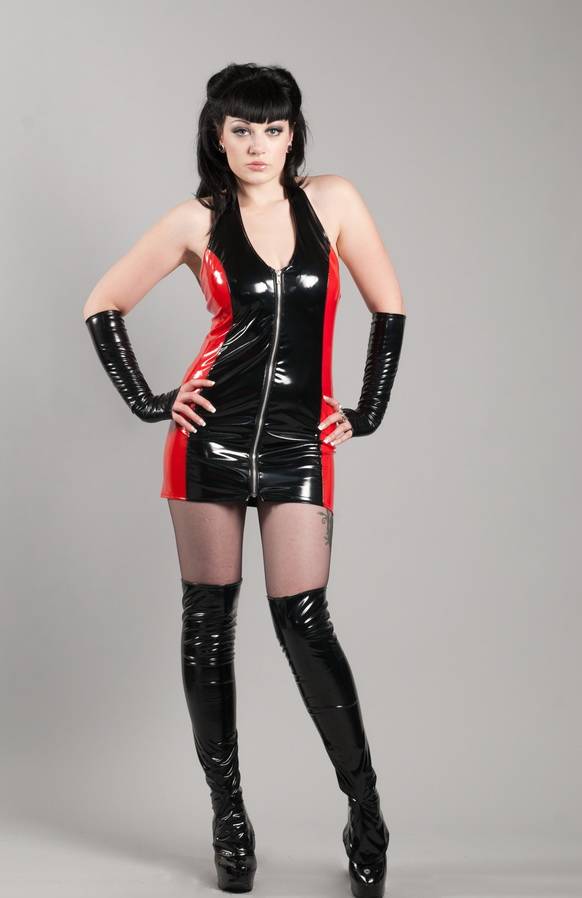 PVC Halter Dress 1 by spank-london