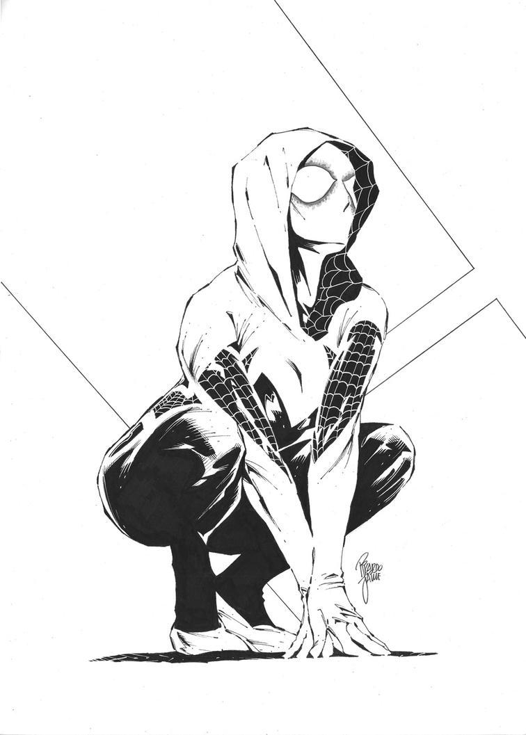 Spider Gwen by ricjaime
