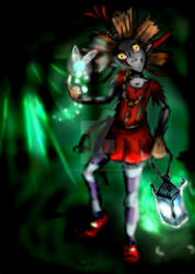 Skull Kid Colored by Banished-Shadows