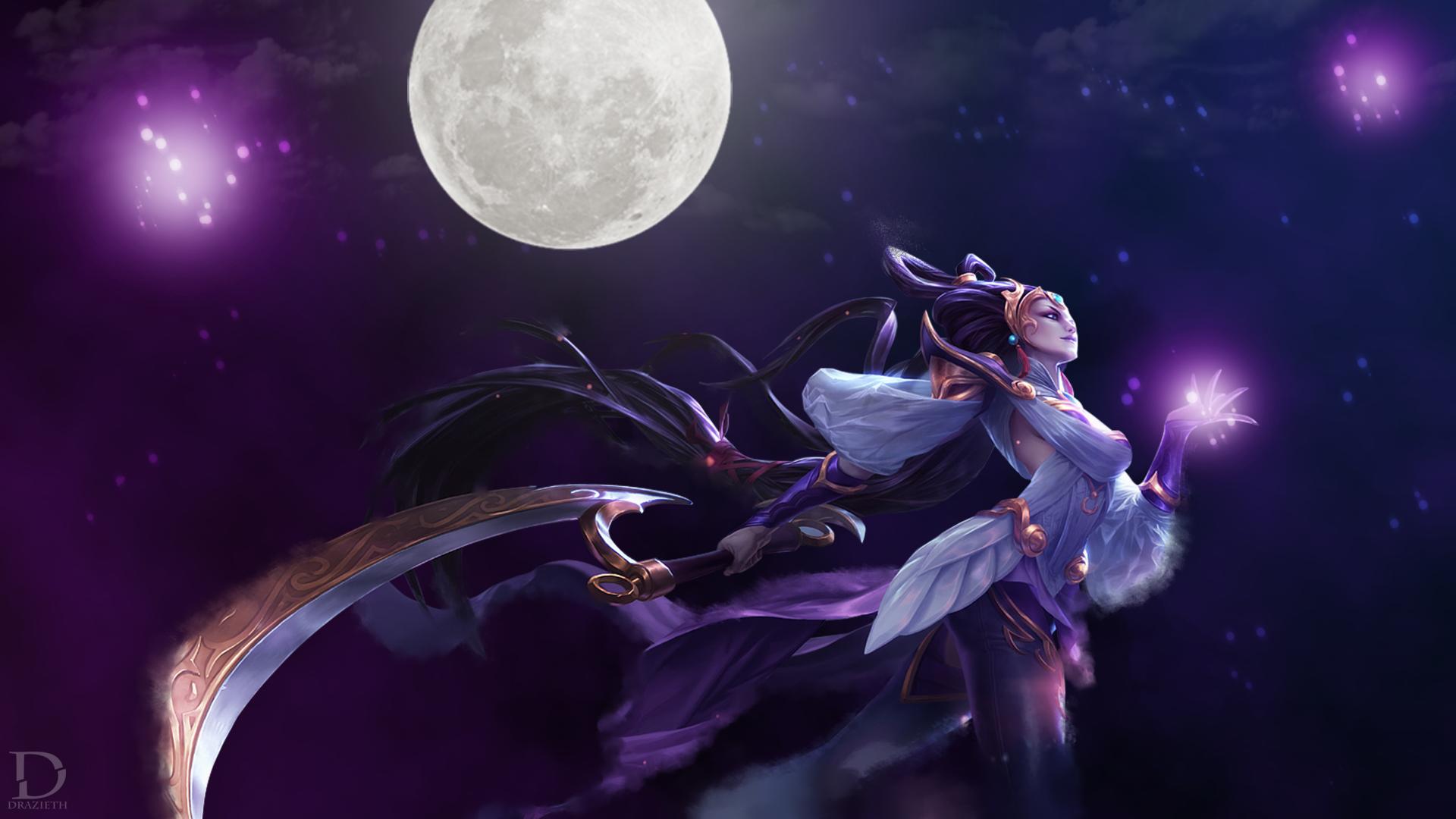 Lunar Goddess Diana League Of Legends Wallpaper By Drazieth On