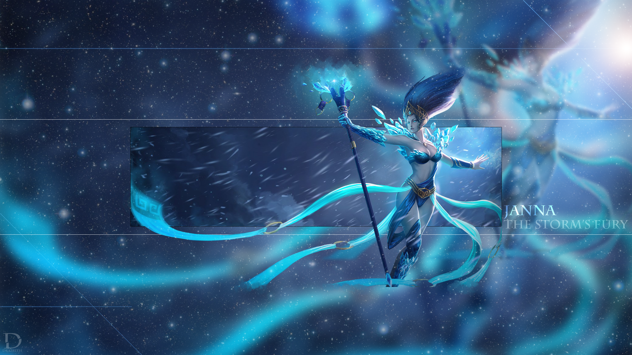 frost queen janna league of legends wallpaper by
