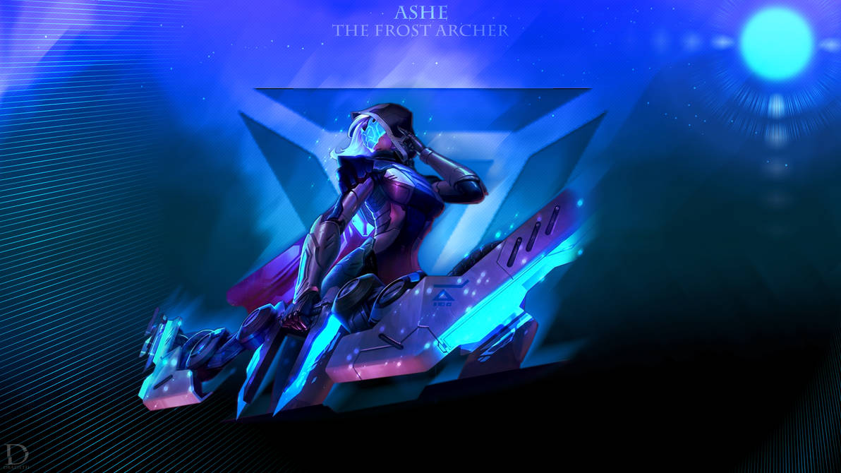 Project Ashe League Of Legends Wallpaper By Drazieth On