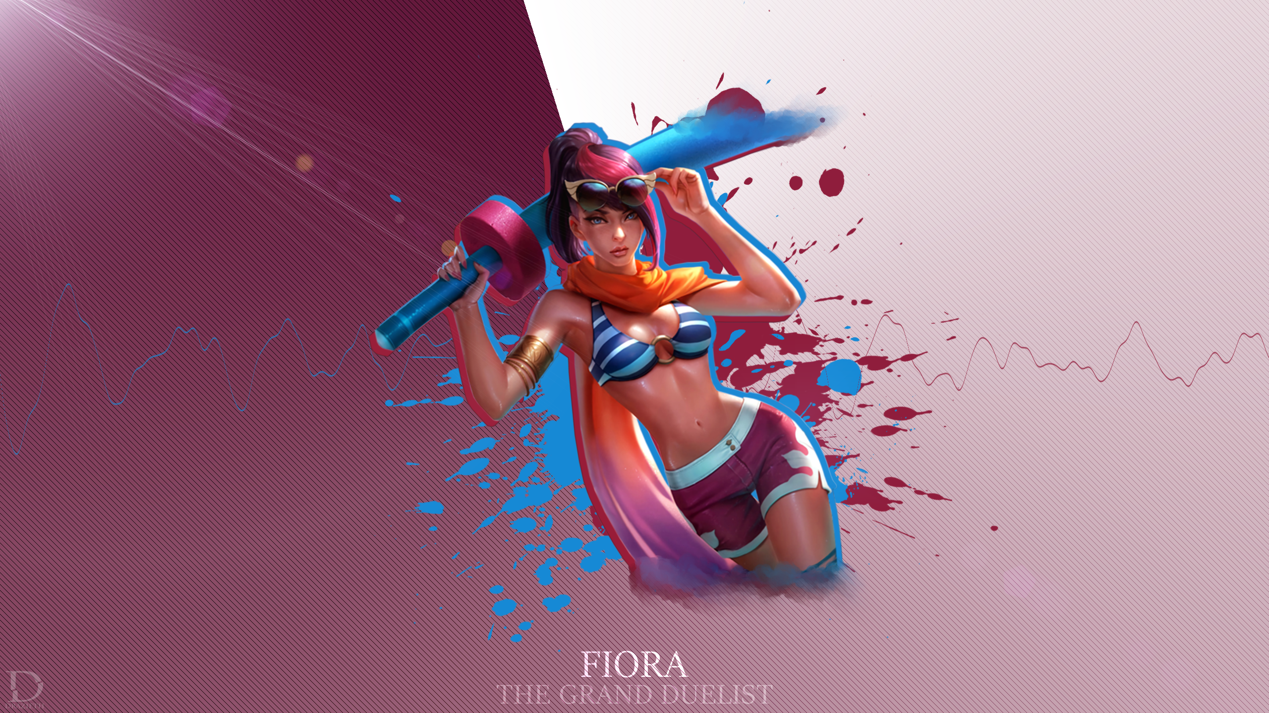 Pool Party Fiora League Of Legends Wallpaper By Drazieth On