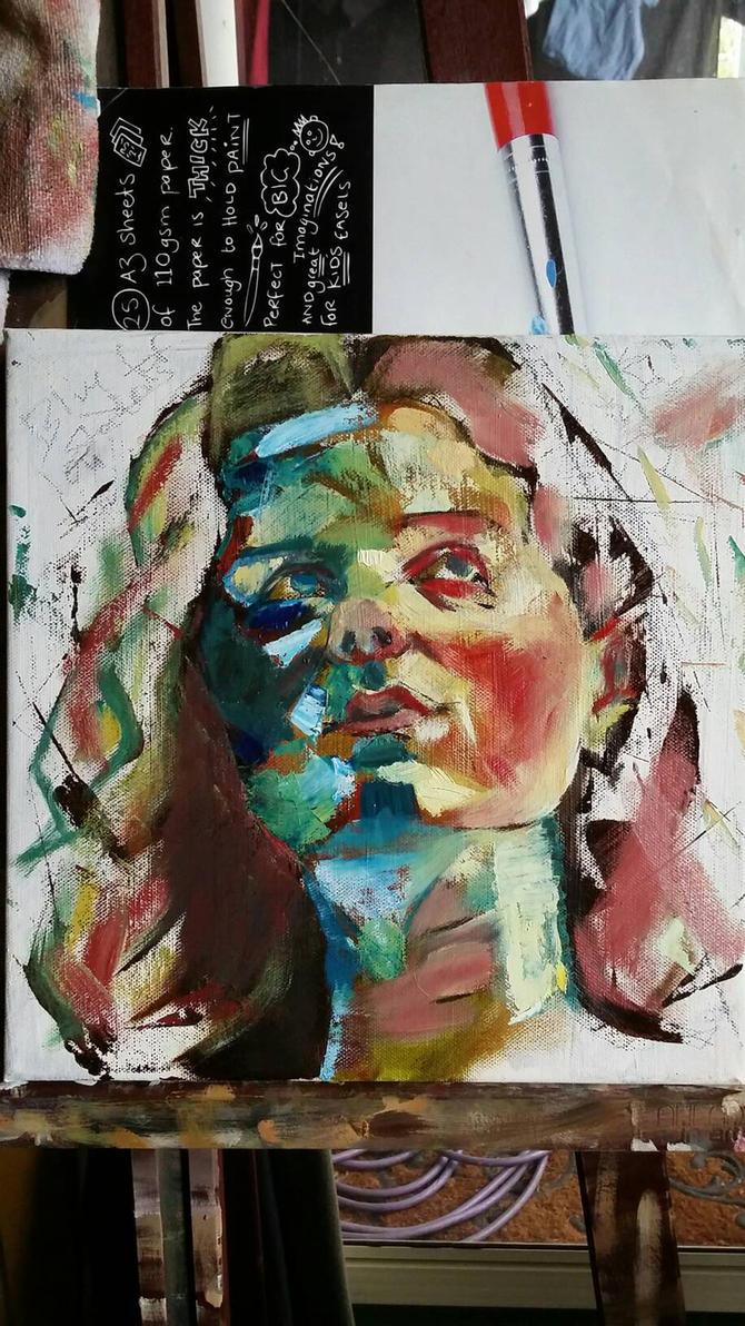 Spontaneous Self Portrait by Bohomouse