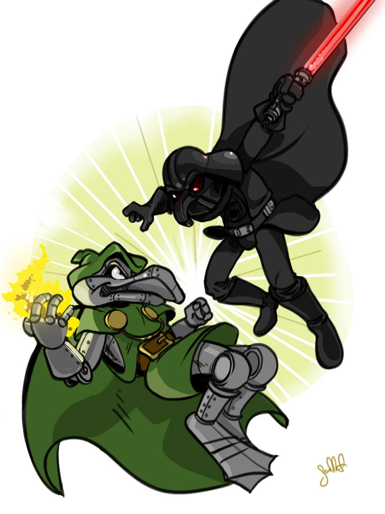Darth Nadir vs Ductor Doom by SeanMcFarland