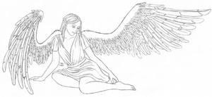 Spread Her Wings - lineart