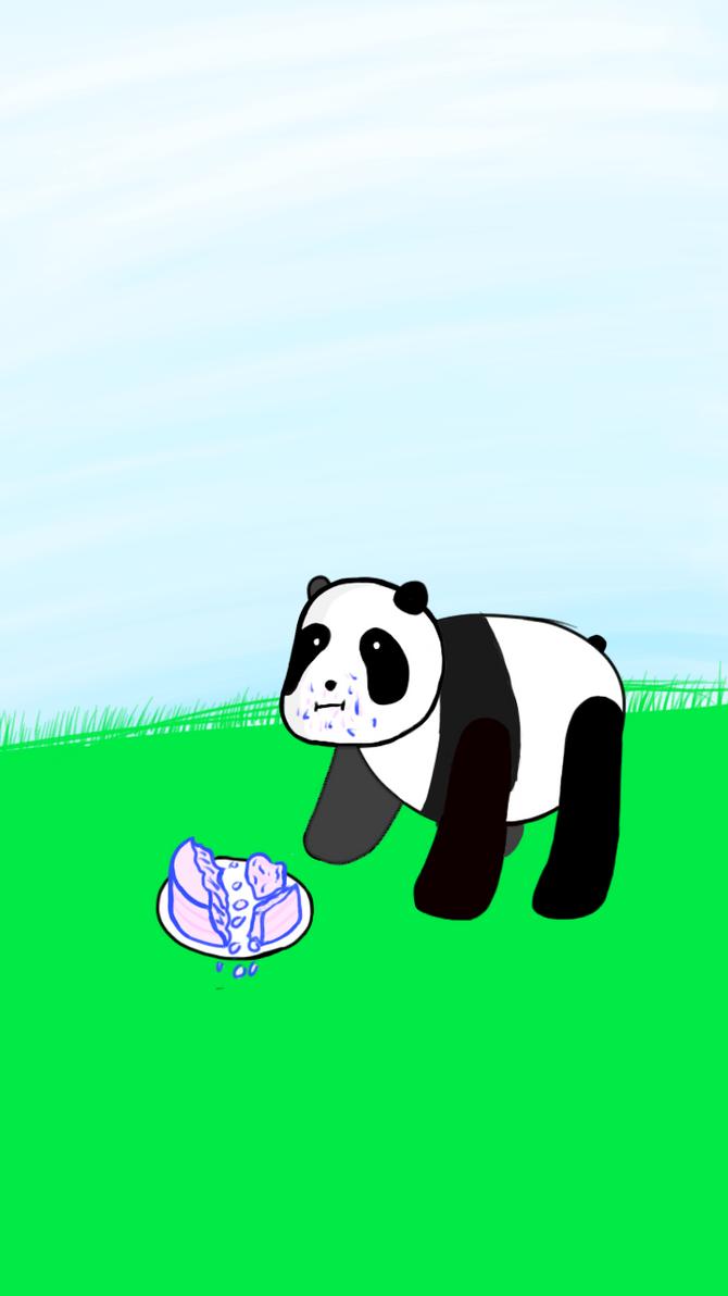 Panda Eating A Birthday Cake By Phaxtolgia On Deviantart