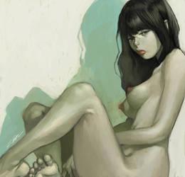 naked gal by cuson