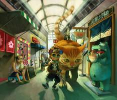 siu kong in shopping street by cuson