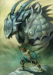 blue dragon by cuson