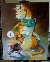 siu kong and cat by cuson