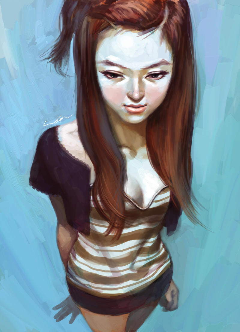 untitled girl by cuson