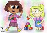 Anne and Sasha's Kindergarten Encounter [Amphibia] by EezySeven