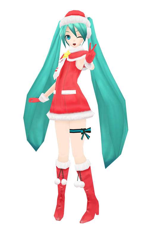 Hatsune Miku Christmas Outfit.Pd2 Hatsune Miku Christmas Outfit By Snowintherain On