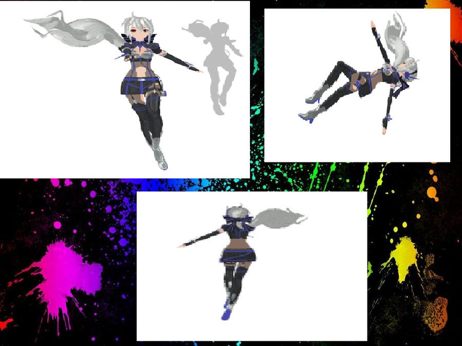MMD Falling pose (not finished) by SnowInTheRain on deviantART
