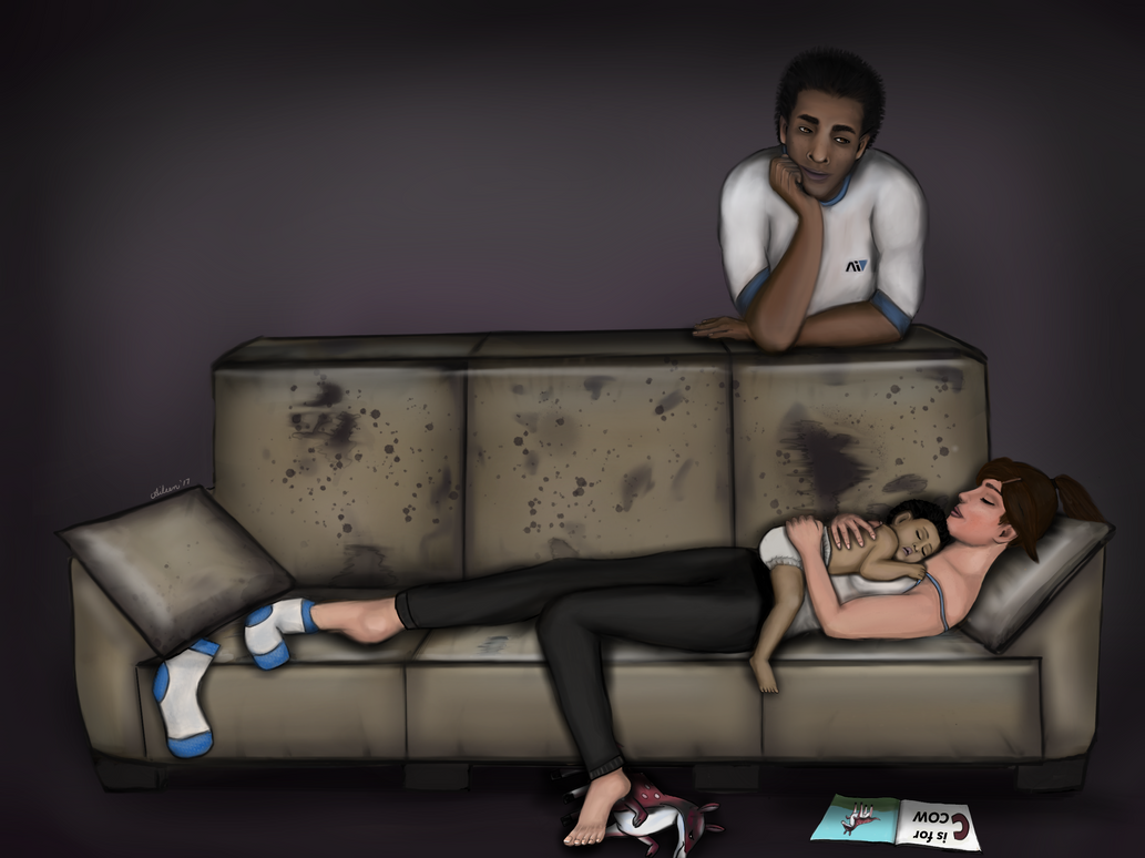 The Kosta family couch:  Catching some sleep. by Tai-kee