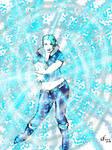 Killer Frost doing an ice blast Kamehameha by Number1Exile