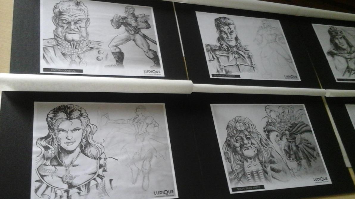 Concepto de Personajes CombateEpico. by PillanLopez