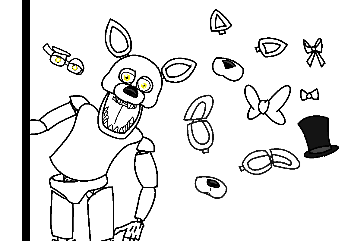 foxy coloring pages - five night 39 s at freddy 39 s foxy base f2u by bre bre chan on